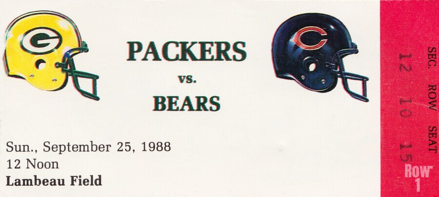 1988 Green Bay Packers vs. Chicago  Print