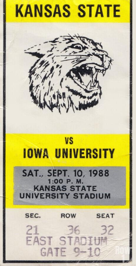 1988 Kansas State vs. Iowa  Print