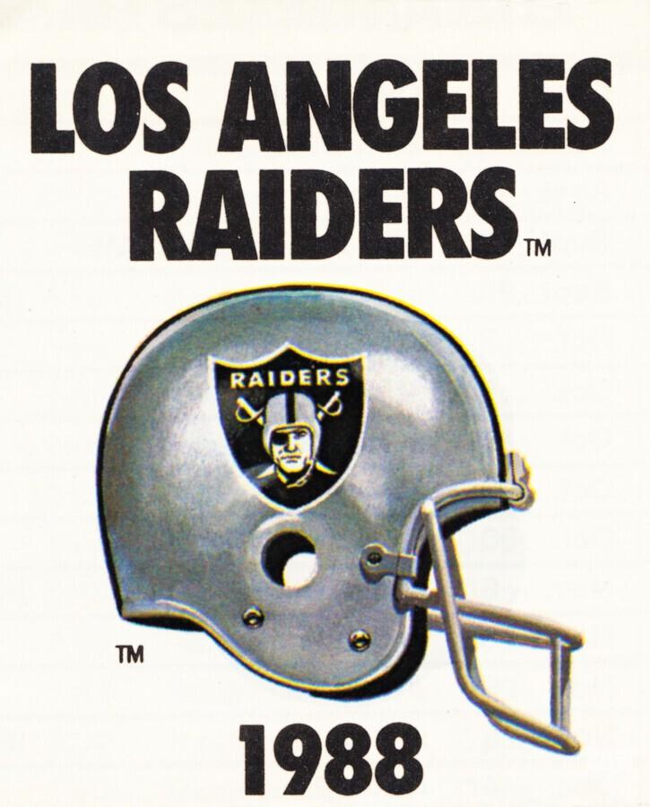 1988 Los Angeles Raiders Helmet Art  Print