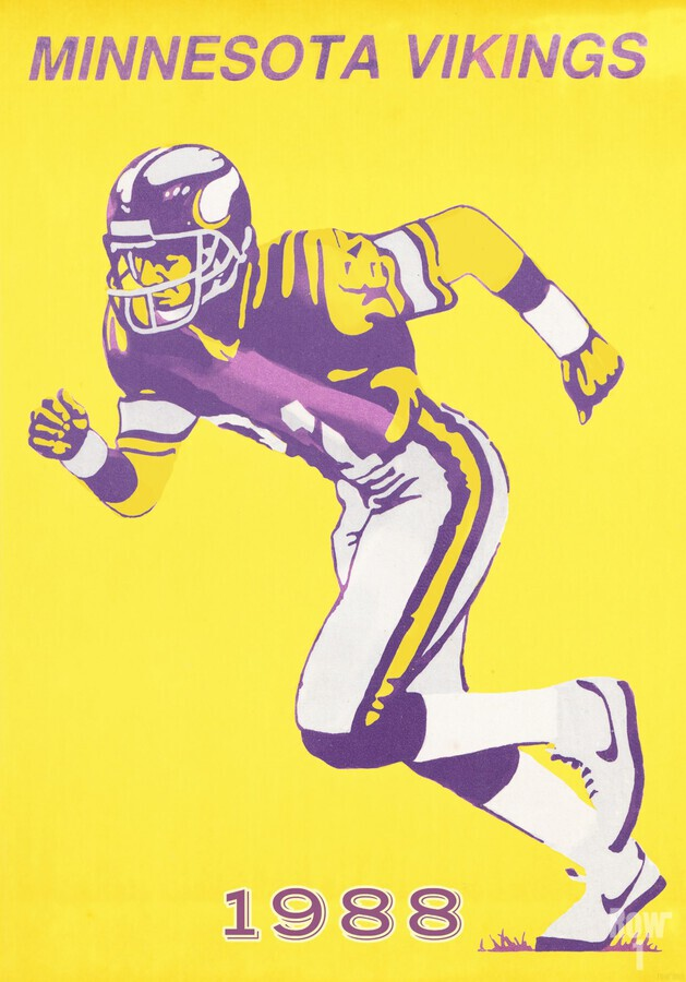 1988 Minnesota Vikings Football Poster  Print