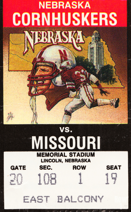 1988 Nebraska Cornhuskers vs. Missouri Tigers  Print