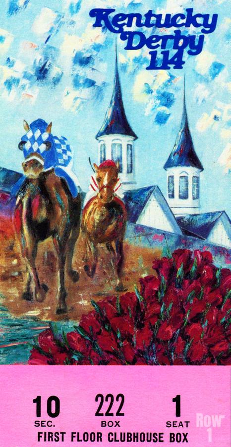 1988 Kentucky Derby Ticket Stub Canvas   Print