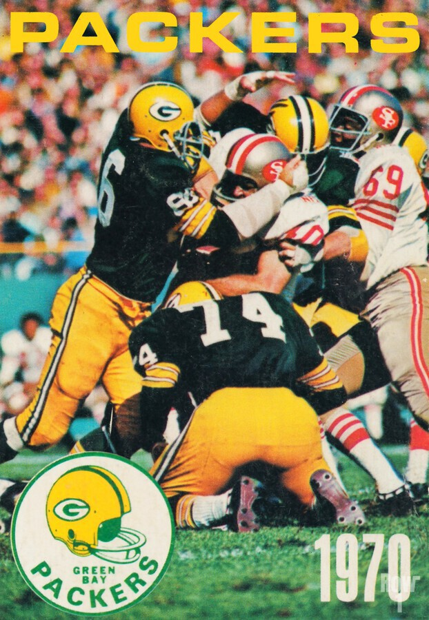 Green Bay Packers Football Poster Row One Brand Sports Art  Print
