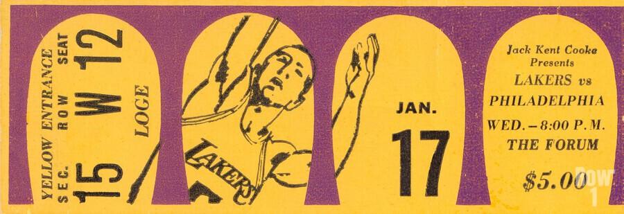 1968 LA Lakers   Print
