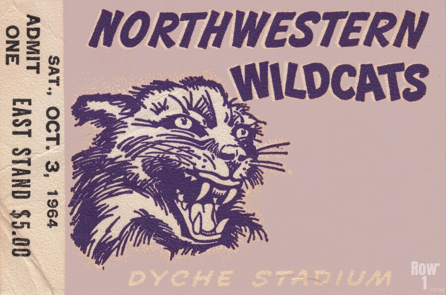 Northwestern University Wildcats College Football Wall Art Ticket Stub  Print