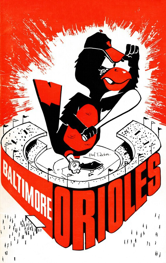 hal decker artist baltimore orioles poster  Imprimer