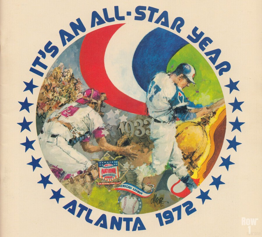 its an all star year atlanta 1972 baseball art  Print