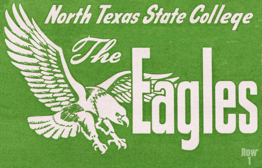 north texas state college unt eagles vintage poster college art collection  Print