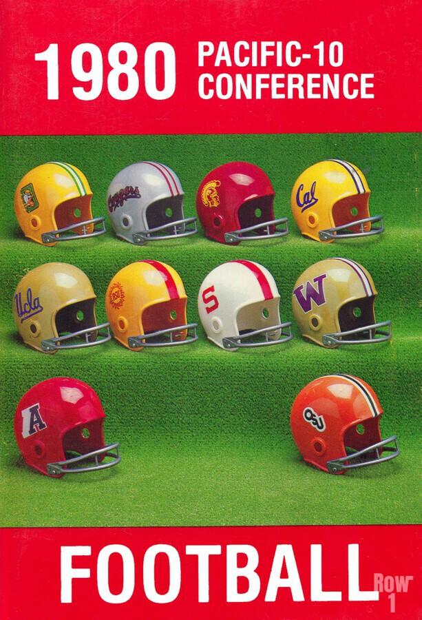 1980 Pac 10 Football Poster  Print