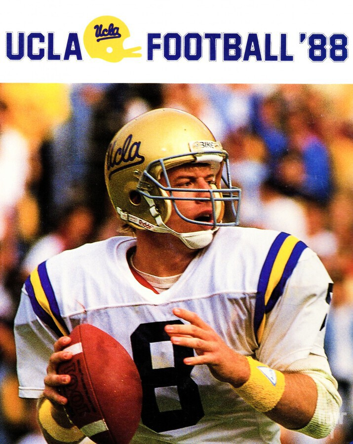 retro college sports posters ucla bruins football  Print