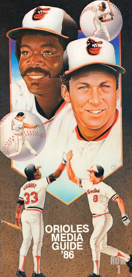 1986 Baltimore Orioles Media Guide Canvas  Imprimer