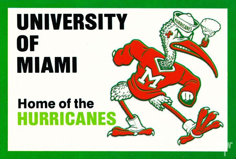 university of miami home of the hurricanes  Print