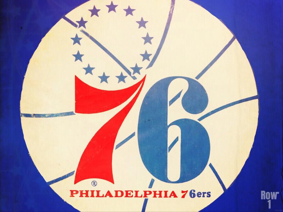 Vintage Philadelphia 76ers Art  Print