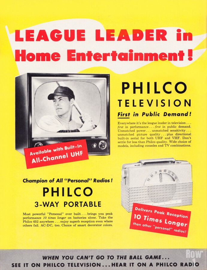 Vintage Philco Television Advertisement  Print
