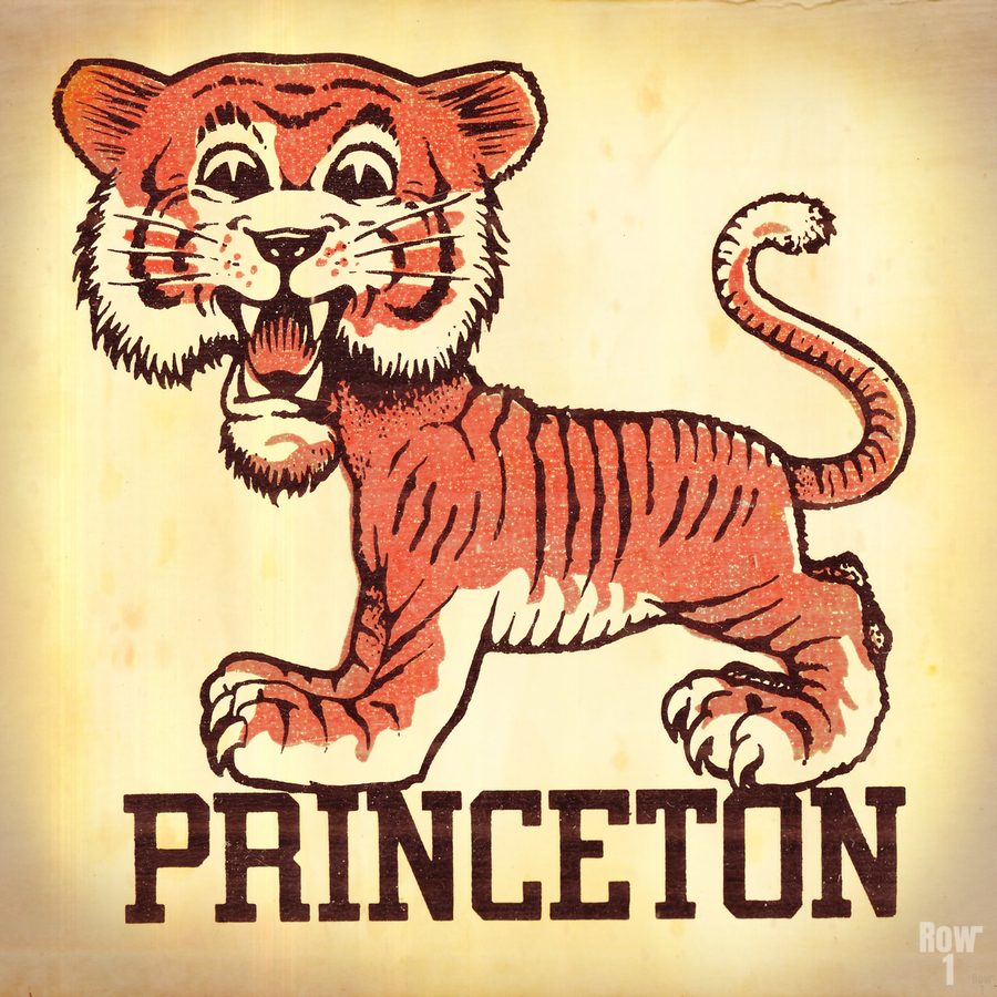 Vintage Fifties Princeton Tiger Remix Art  Print