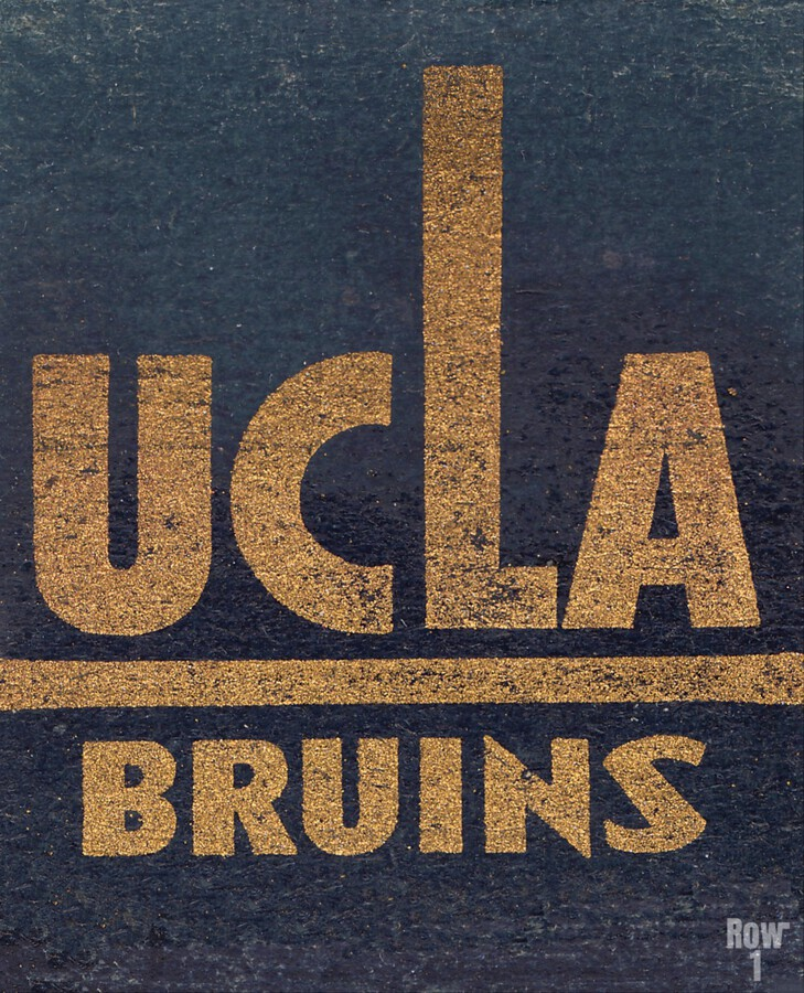 Vintage UCLA Bruins Art  Print