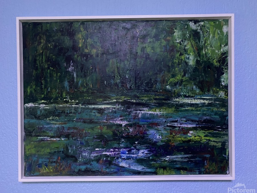 A swamp Concert  Acryl on Canvas 80x60  FRAMED   Print