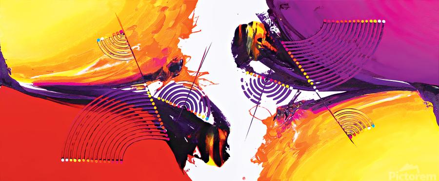 Abstract Art Britto - QB188  Print