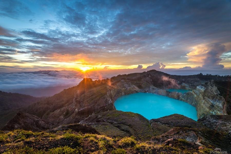 Indonesian Volcano  Print