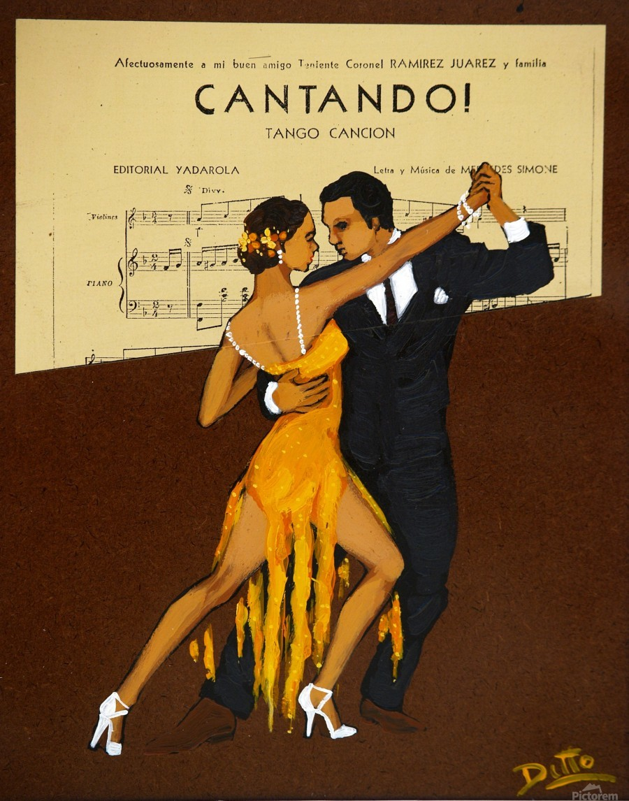 advertisement tango music dance  Print