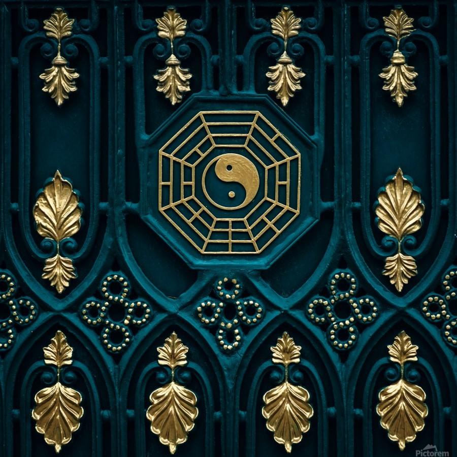 blue and brown yin yang illustration  Print