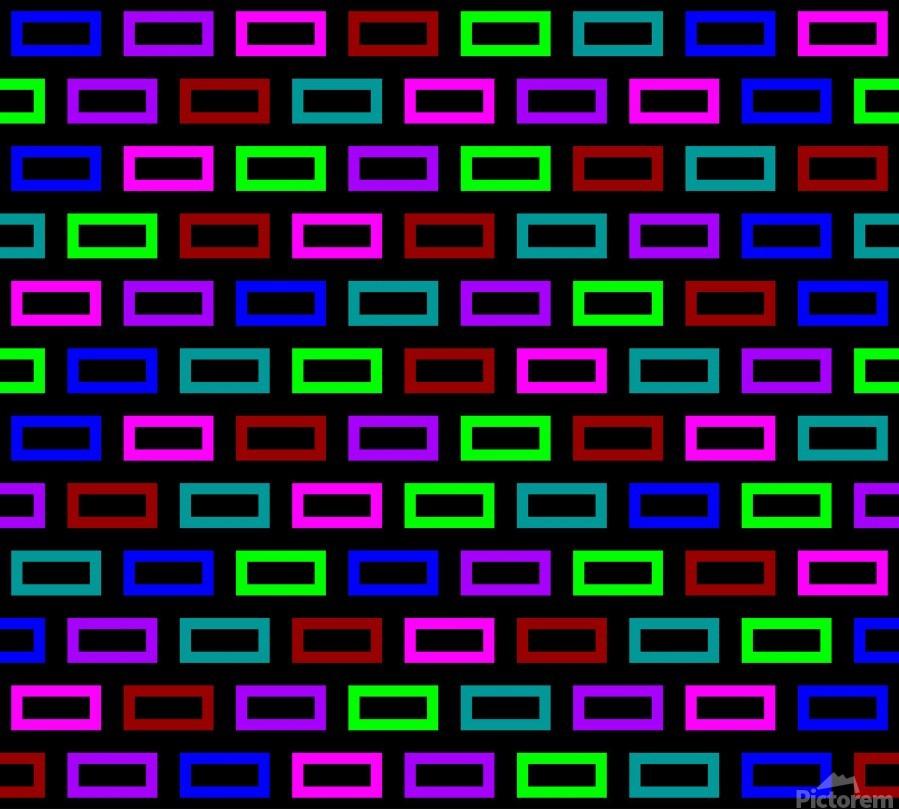 colourfulbrickspatterncolour  Print