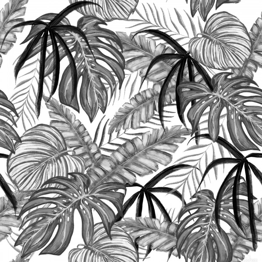 drawing leaves nature picture  Print