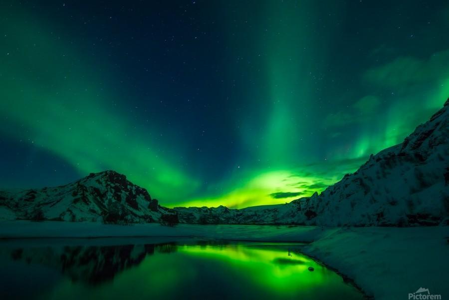 iceland aurora borealis  Print