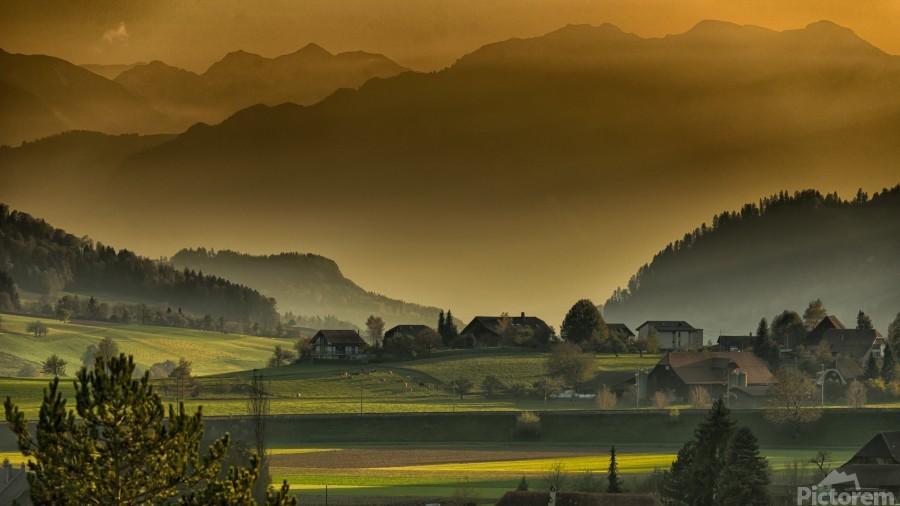 landscape autumn twilight mountains_1588527933.2293  Print