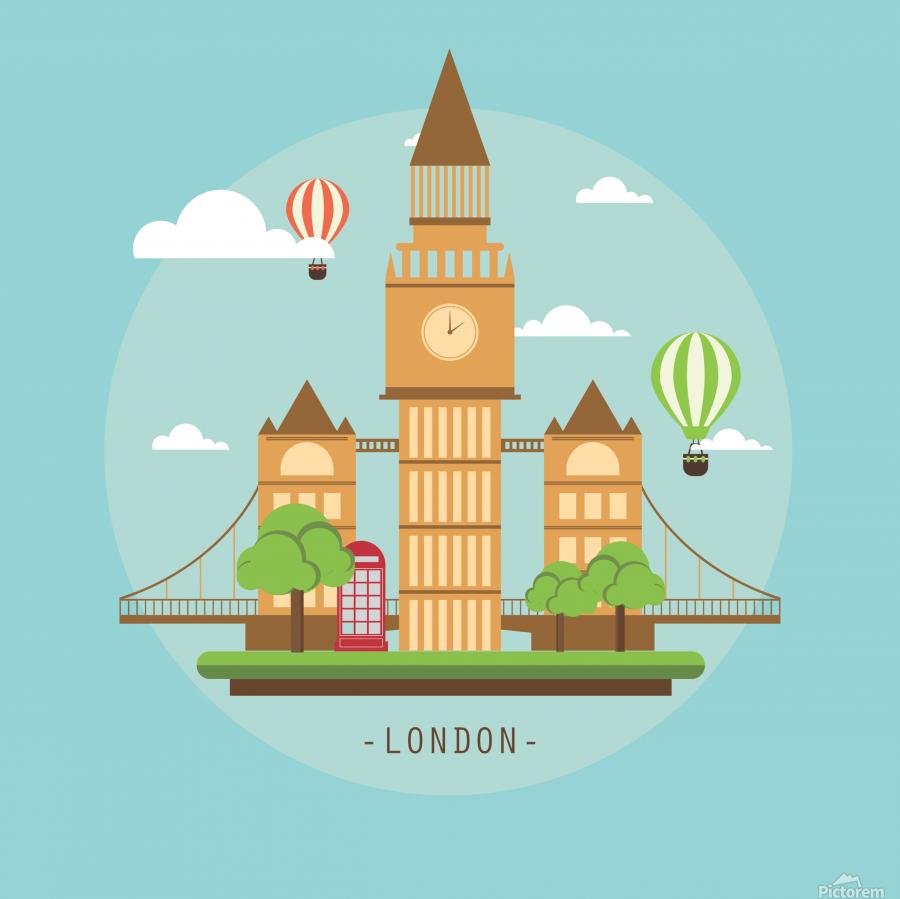 london watch landmark england  Print