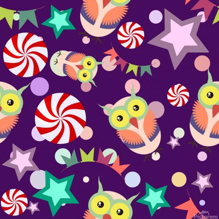 owl pattern background  Print