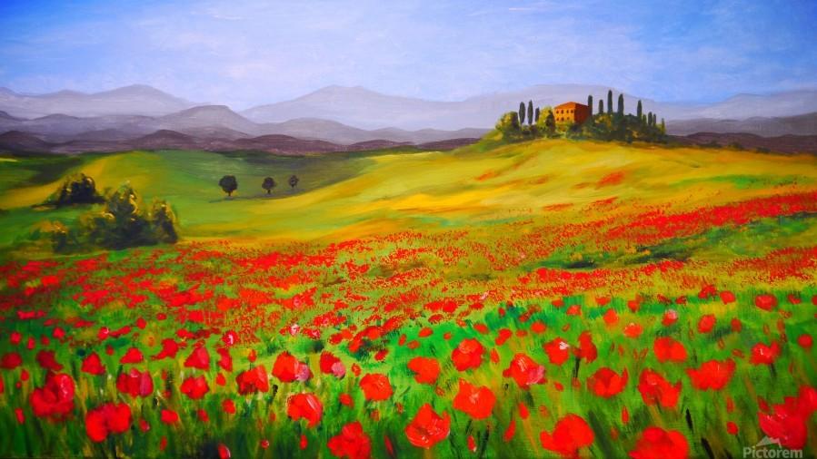painting art landscape acrylic  Print