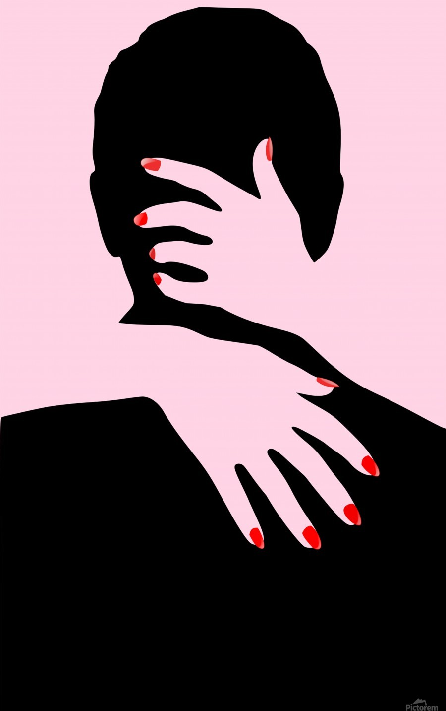 poster the hands embrace love  Print