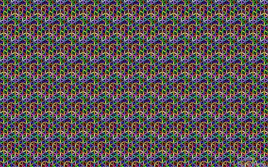 seamlessprismaticgeometricpatternwithbackground  Print