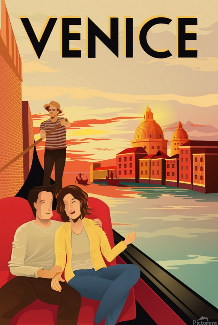 venice travel poster  Print