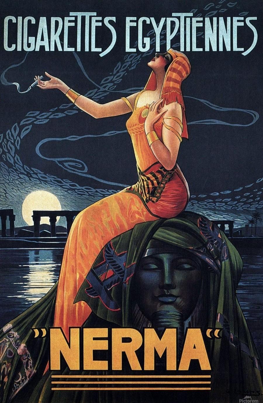vintage poster print advertisement  Print