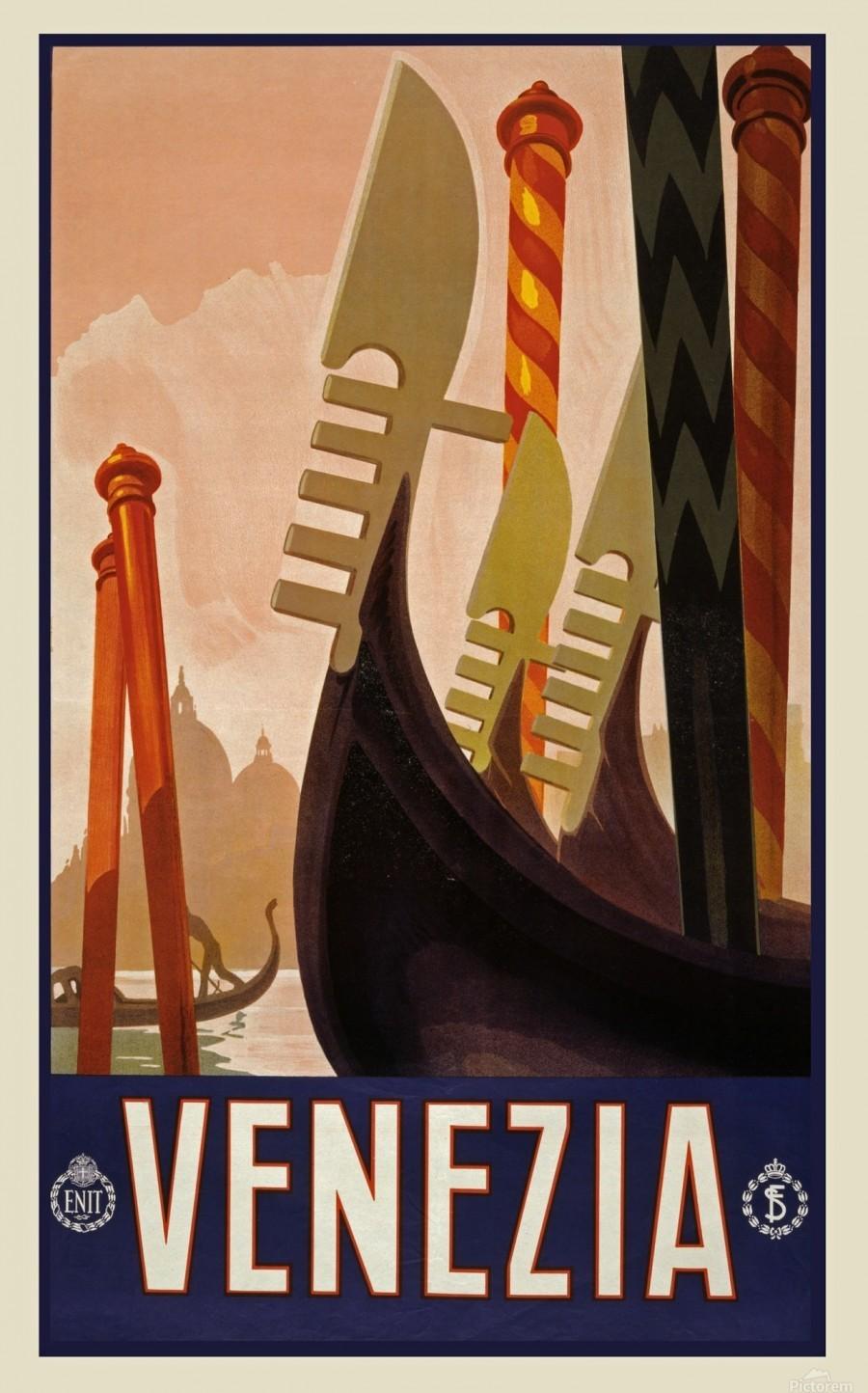 vintage travel travel poster  Print