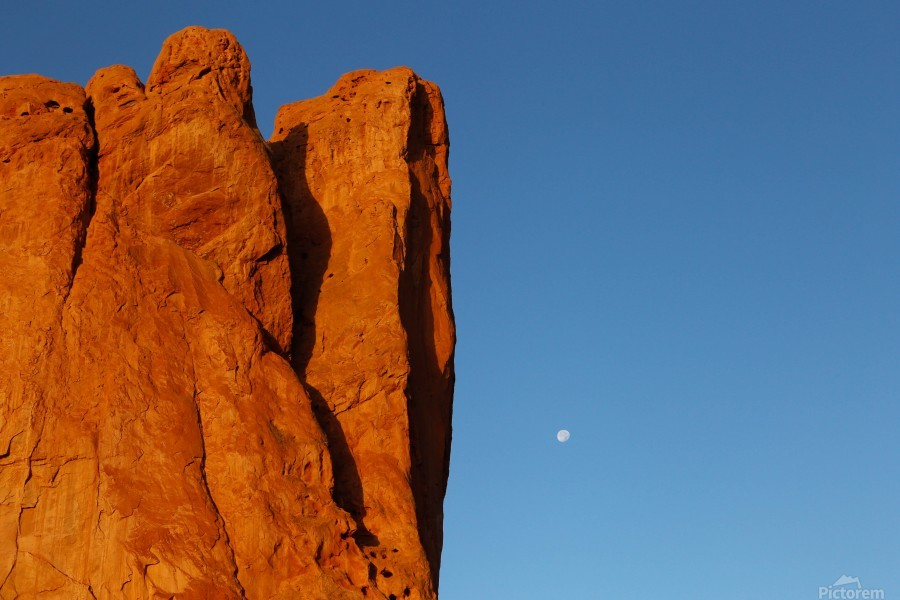 Red Rock and the Moon-BDR4129  Print