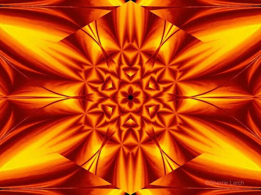 Fire Flowers 104  Print