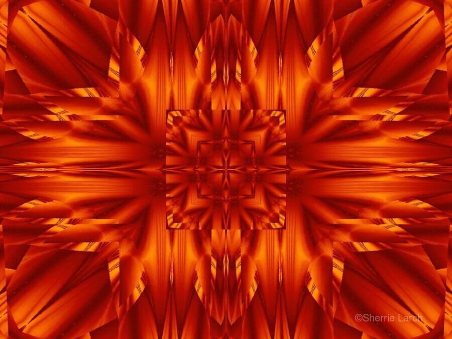 Fire Flowers 190  Print