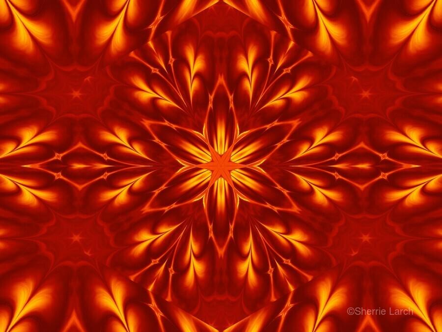 Fire Flowers 9  Print