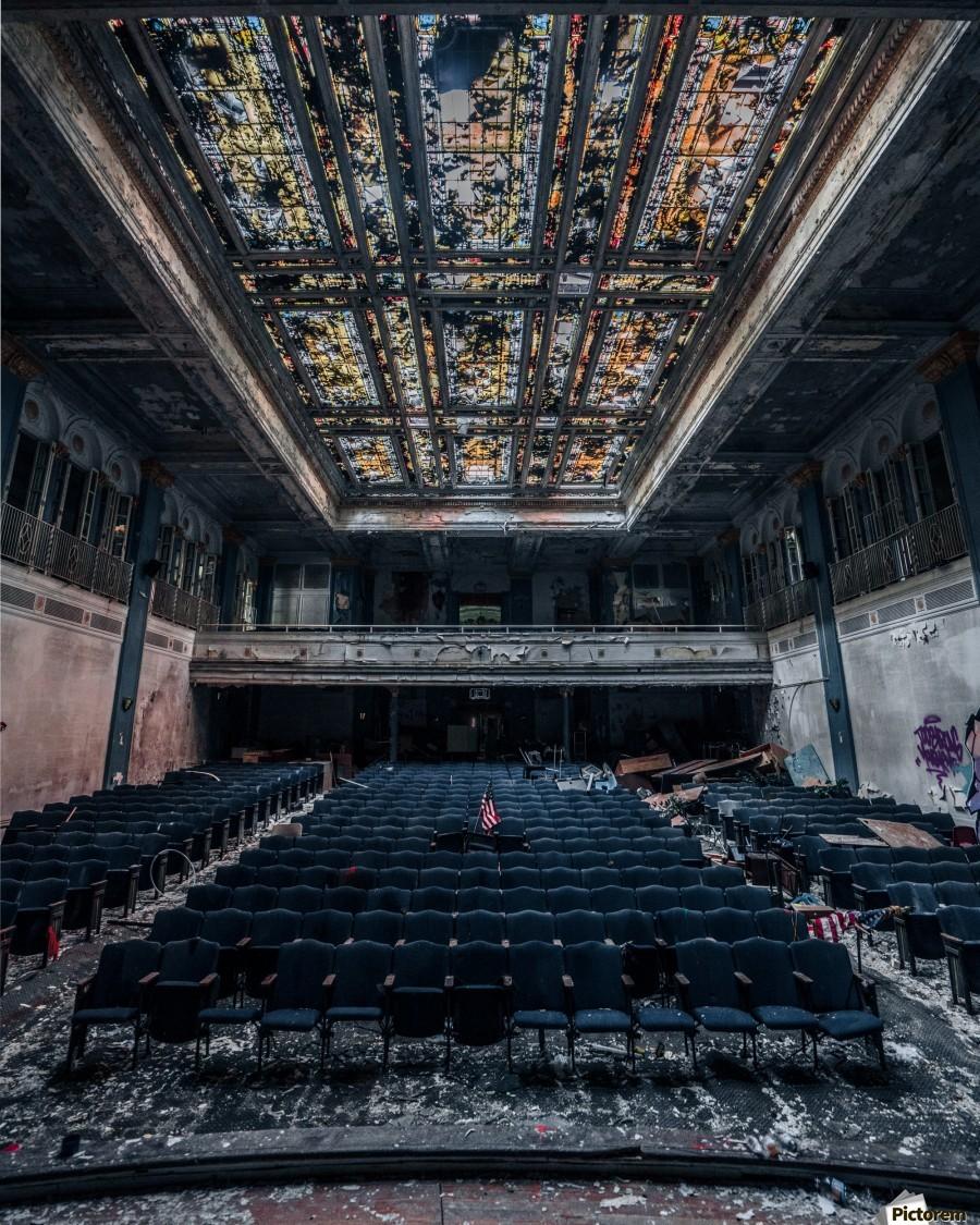 Decaying Blue Auditorium  Print