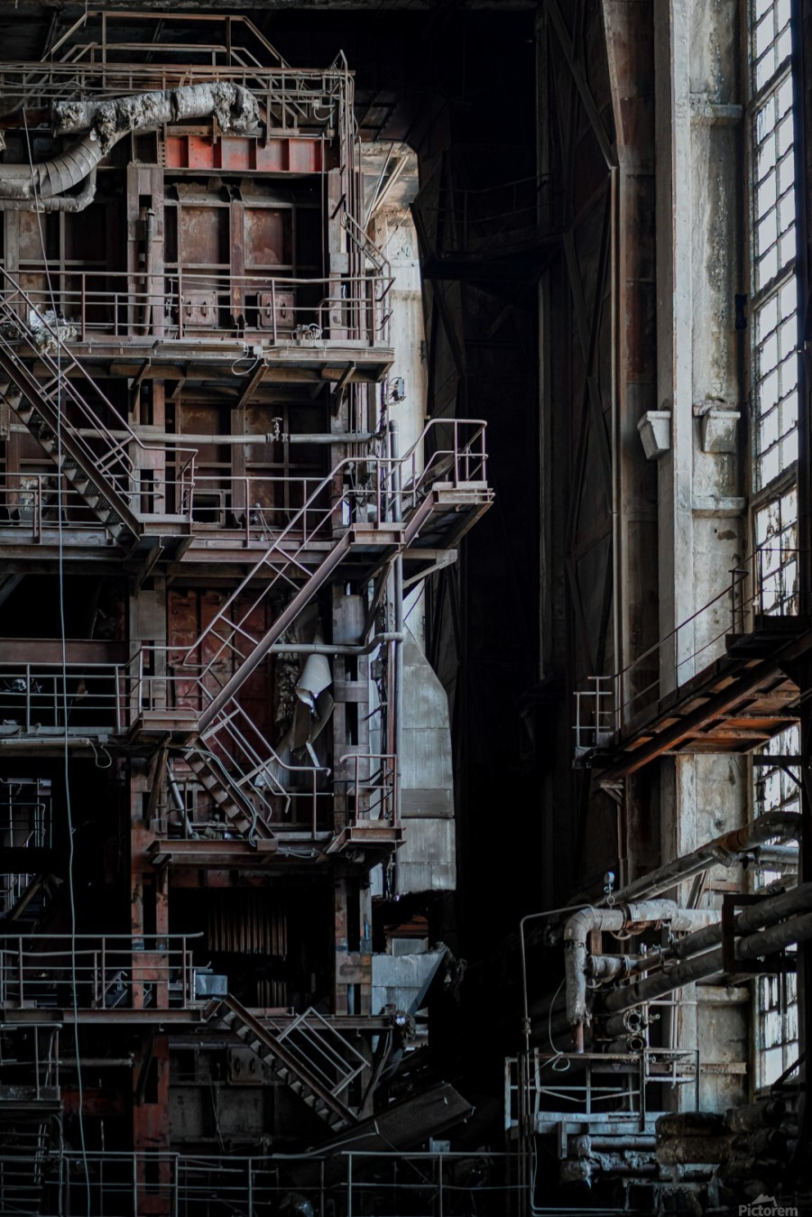 Abandoned Blade Runner Factory  Print
