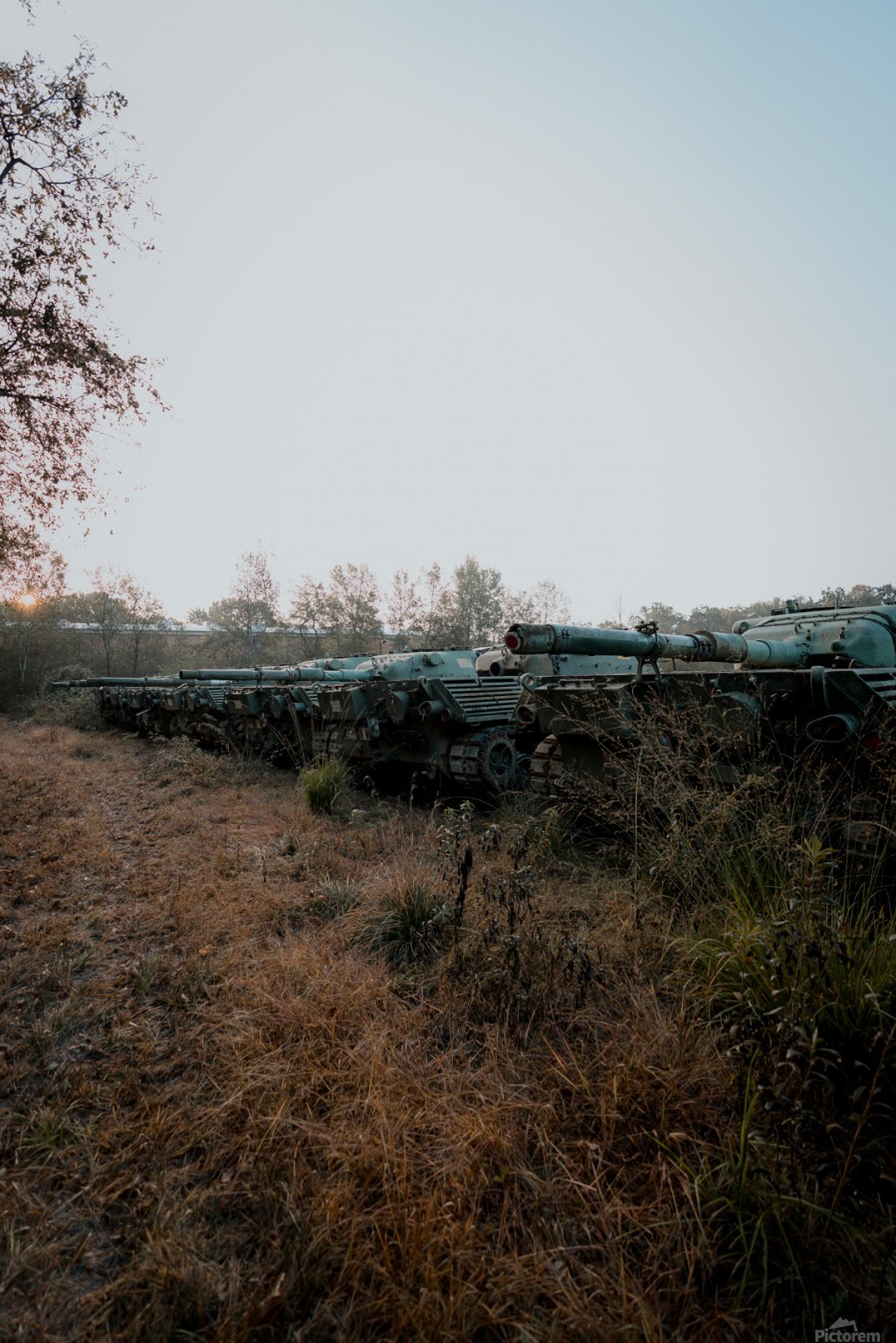 Abandoned Tank Graveyard  Print