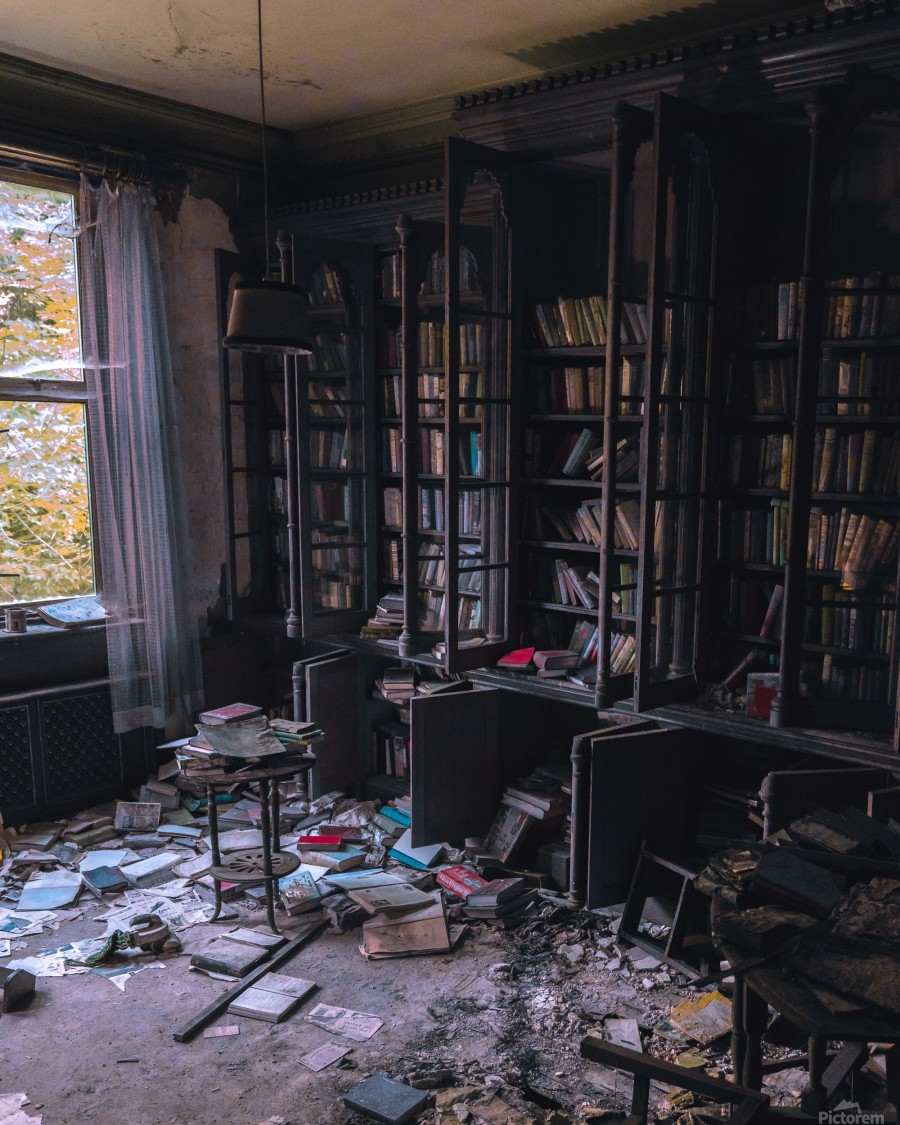 Abandoned Mansion Library  Print