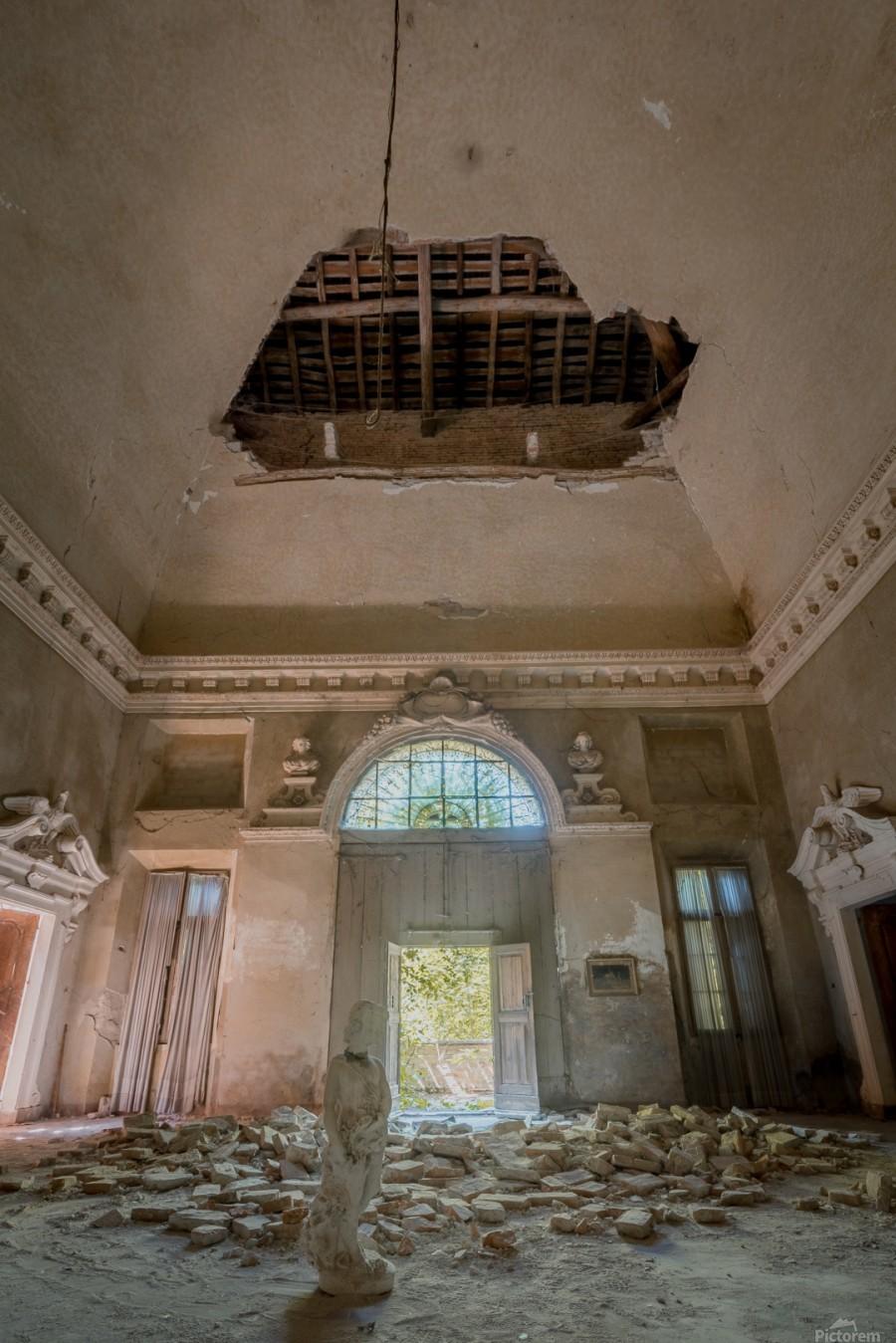 Abandoned Villa Decaying  Print