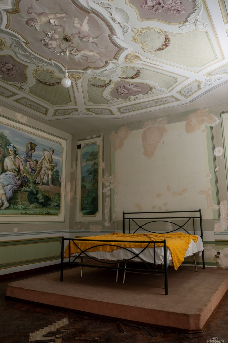 Abandoned Mansion Marvelous Bedroom  Print