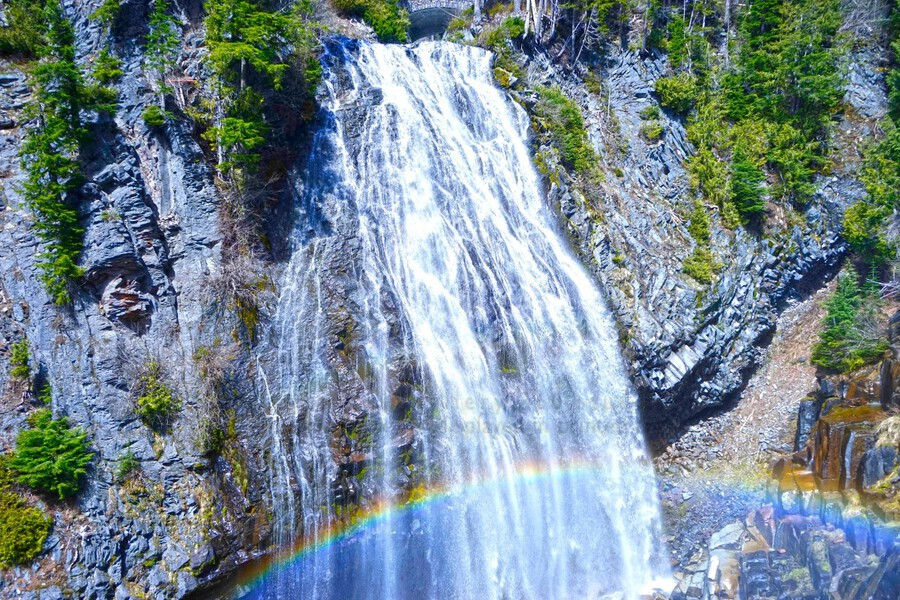 Rainbow Falls Rainier  Print