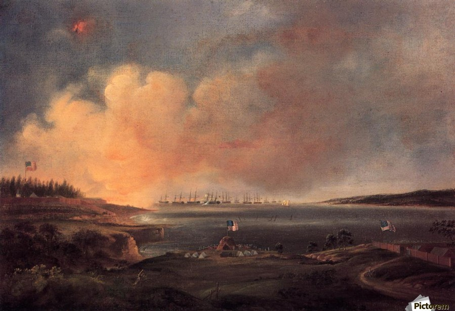 The Battle of Fort McHenry  Print