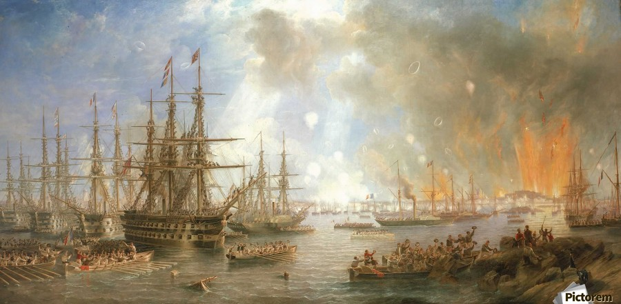 The Bombardment of Sveaborg  Print